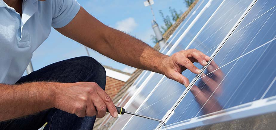 Solar installation is easy and takes up very little space on your roof.